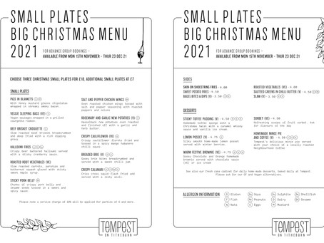 Tempest On Tithebarn's Christmas Menu Is Unveiled! Book Now For The 15th Of November & Onwards