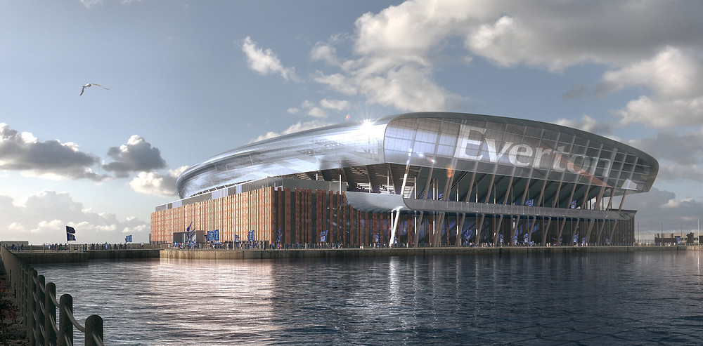 Everton FC's vision for the intended final look of the Bramley-Moore Dock Stadium that will house the Premier League Club (Credit: Everton FC).
