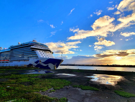 Sky Princess Docks At The Port Of Liverpool