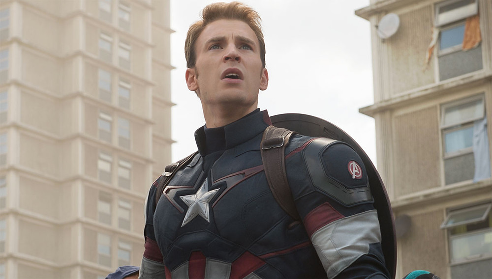 Chris Evans as the iconic Captain America in The Avengers (Credit: Marvel).