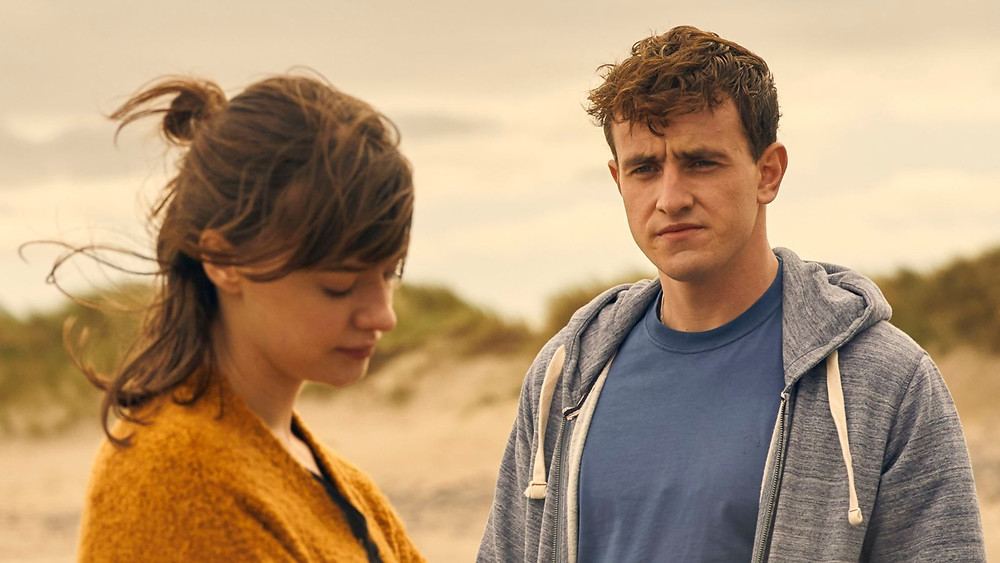 Paul Mescal as Connell and Daisy Edgar-Jones in 'Normal People' (Credit: BBC).