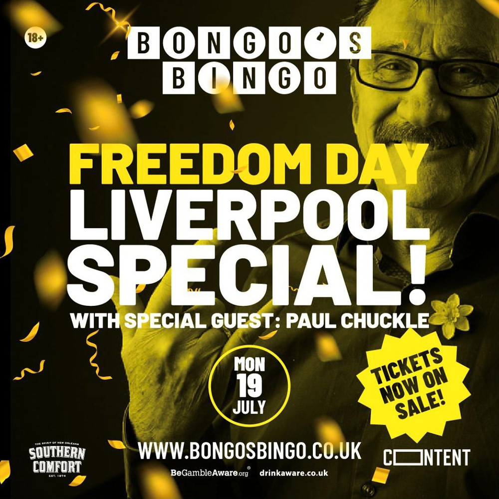 Paul Chuckle To Headline Bongo's Bingo 'Freedom Day' Special Event (Credit: Image Supplied by Publicist).