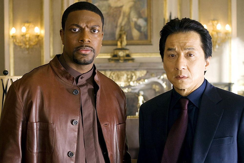Chris Tucker starring in Rush Hour with Jackie Chan (Credit: New Line Cinema).