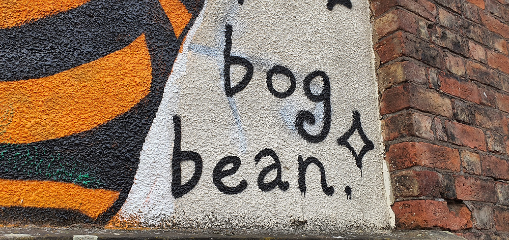 Artwork by 'bog bean' in the heart of The Baltic Triangle (Credit: The Liverpudlian/Peter Eric Lang).