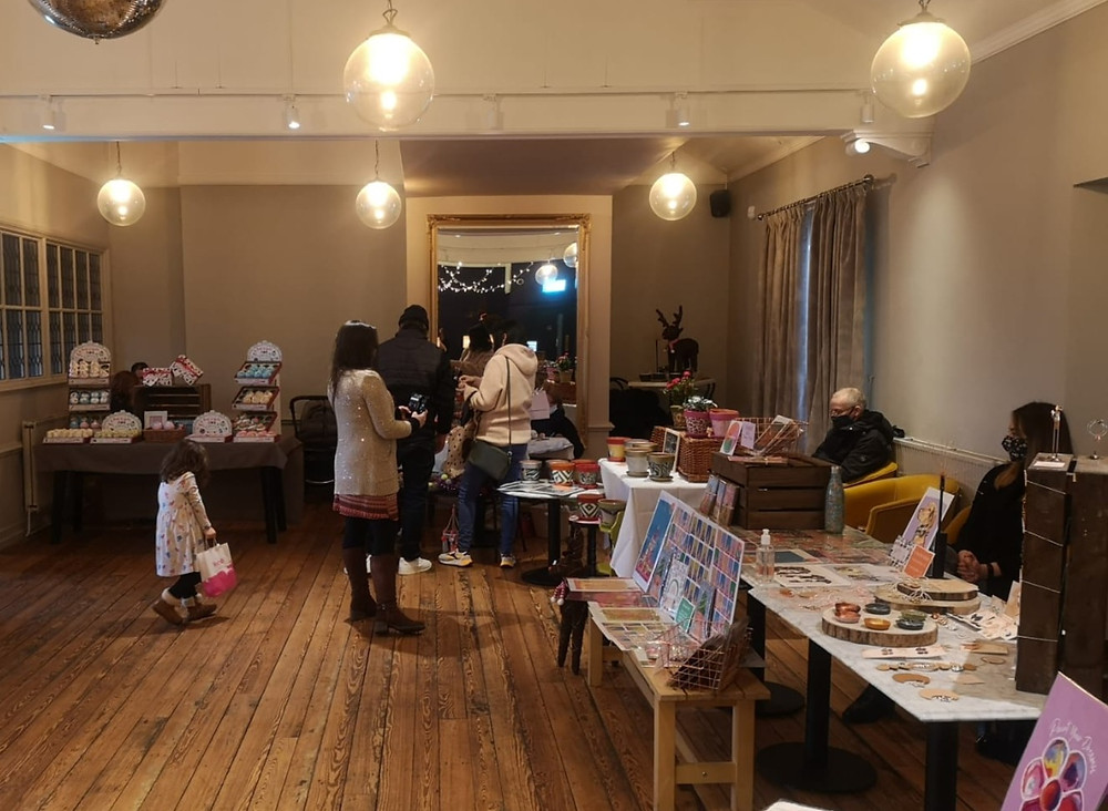 Stalls selling original artwork and merchandise in LEAF West Kirby, located in the Liverpool City Region's Borough of Wirral (Credit: Image Supplied by The LEAF Group).