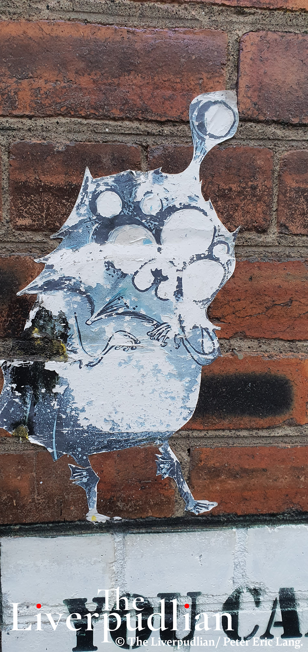 Paste up artwork by 'Lost Hills' in Liverpool City Centre's The Baltic Triangle creative district (Credit: The Liverpudlian/Peter Eric Lang).