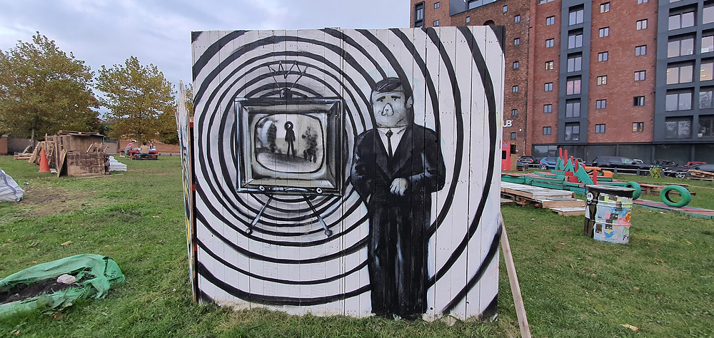 Artwork by 'Lost Hills' in Liverpool's creative district; The Baltic Triangle (Credit: The Liverpudlian/Peter Eric Lang).