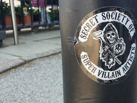 Sons Of SSOSVA Sticker Marks The Societies Presence In The Prenton Area Of The Liverpool City Region