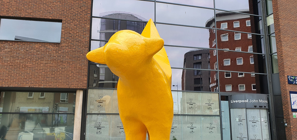 The Superlambanana as it proudly stands on Tithebarn Street in Liverpool City Centre (Credit: Peter Eric Lang).