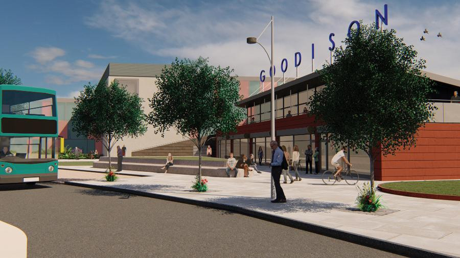 How Goodison Park in Everton could look if demolished after the Club's move to The Waterfront (Credit: Everton FC).