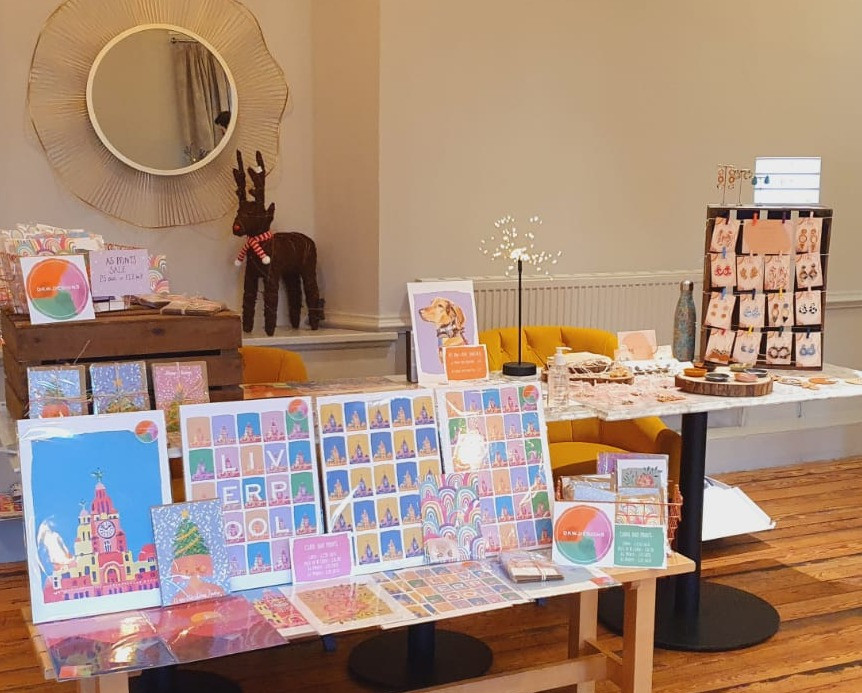 Original artwork, craft and jewelry with the subject of particular focus being of iconic buildings and landscapes in the Liverpool Bay Area, sold at stalls in LEAF West Kirby (Credit: Image Supplied by The LEAF Group).