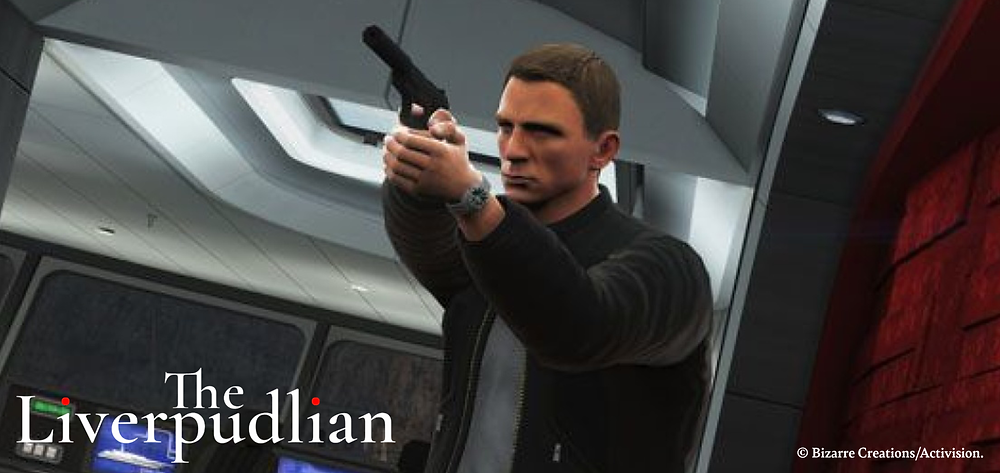 Daniel Craig starring as James Bond in the video game by Liverpool's Bizarre Creations (Credit: Bizarre Creations/ Activision).
