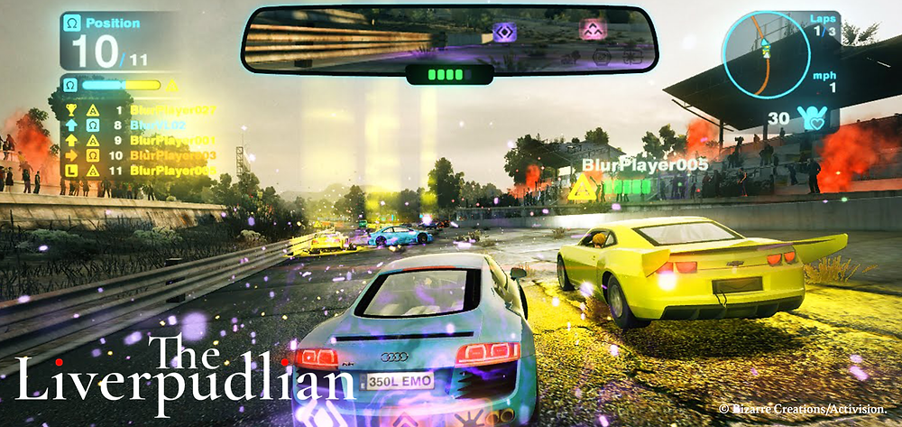 Blur, a high-octane console racing game by an iconic Liverpool company (Credit: Bizarre Creations/Activision).