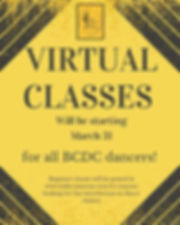 Virtual classes are coming next week! St
