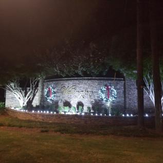 Wulling holiday light front entrance
