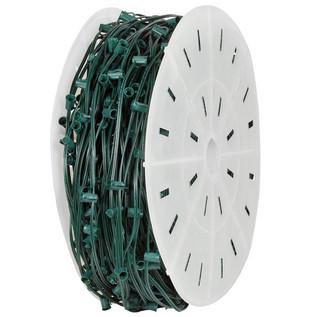 C9-E17-Candelabra-Green-Wire-Light-Spool