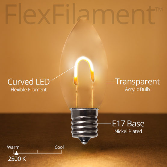 Flex Filament bulbs - Brighter and more golden than Warm white