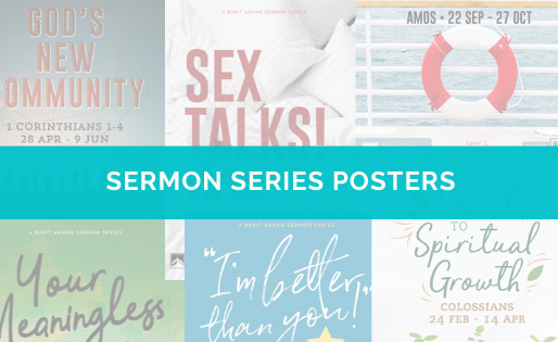 A note to pastors: 6 examples of sermon series posters
