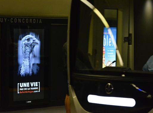 Une campagne de sensibilisation saisissante dans les stations de métro de Montréal