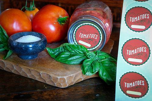 Mason Jar Vintage Style Canning Labels