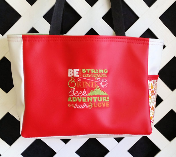 Be Strong and Courageous Tote