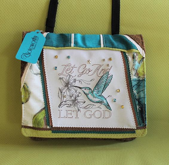 Let Go and Let God Hummingbird Messenger Bag