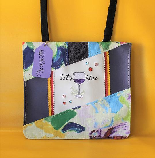 Let's Wine Messenger Bag