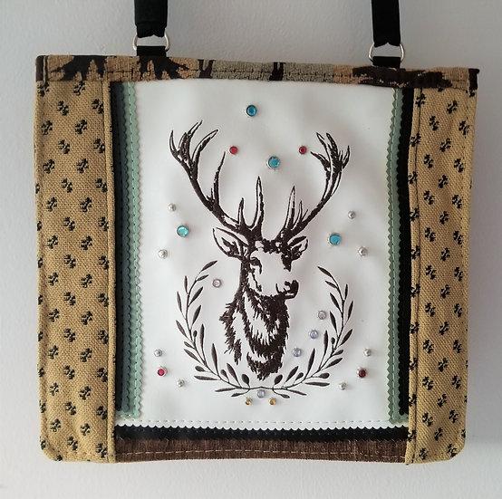 Deer Wreath Messenger Bag