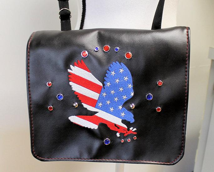Patriotic Eagle Messenger Handbag