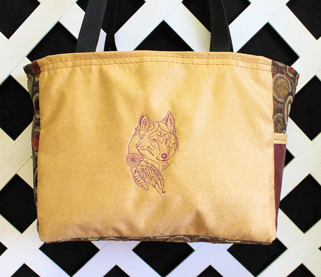 Tribal Wolf Tote
