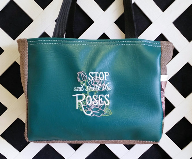 Stop and Smell the Roses Floral Tote