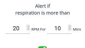 Respiratory Rate Alert
