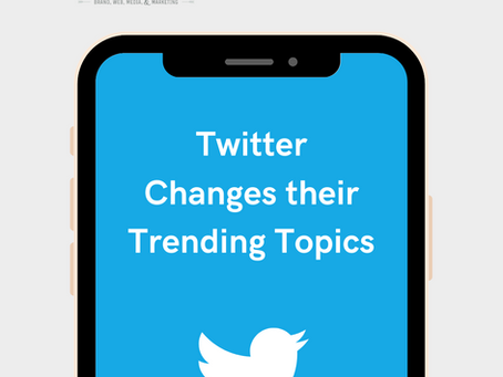 Twitter Changes their Trending Topics