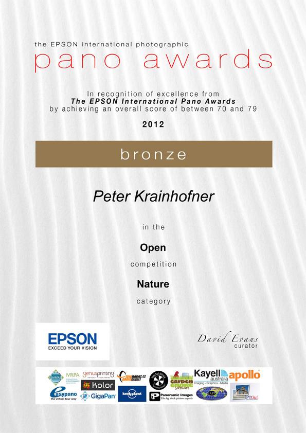 Epson International Pano Award to Peter Krainhofner
