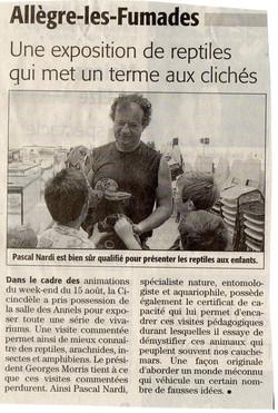 article Midi libre Expo St Jean 2010