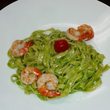 Pasta Pesto shrimps