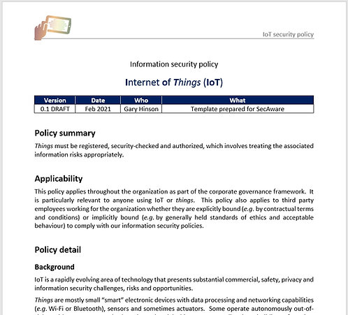IoT security policy