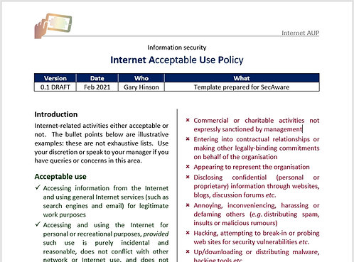 Internet Acceptable Use Policy