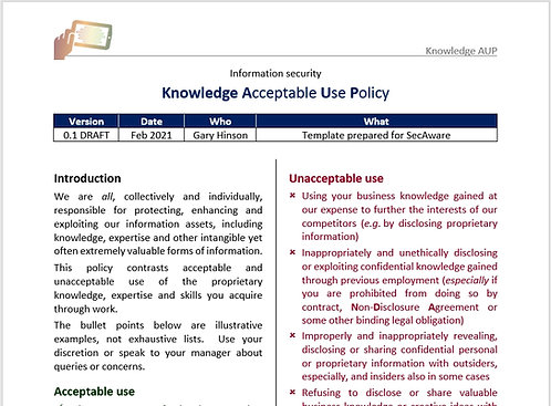 Knowledge Acceptable Use Policy