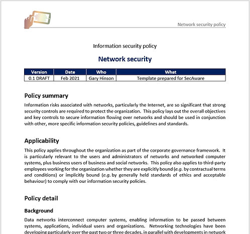 Network security policy