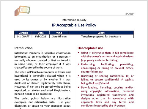 IP Acceptable Use Policy