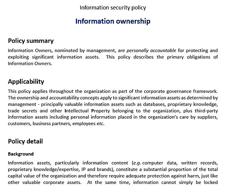 Information ownership policy