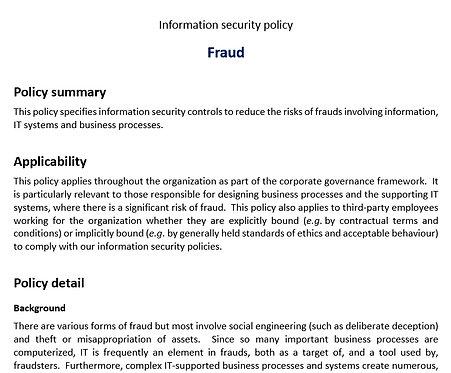 Fraud policy