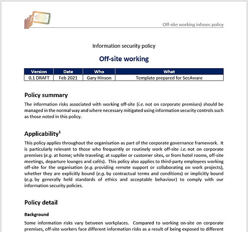 Off-site information security policy