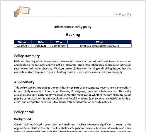 Hacking policy