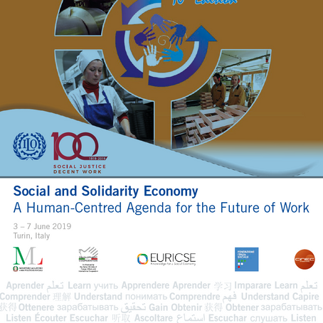 Talk at ILO's Academy on Social and Solidarity Economy (June 3-7, 2019)