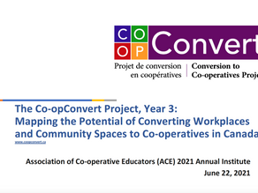 Virtual Ace Institute 2021. Co-opConvert's latest findings