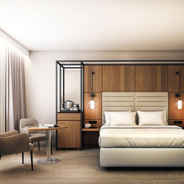 Marriott hotellrum.
