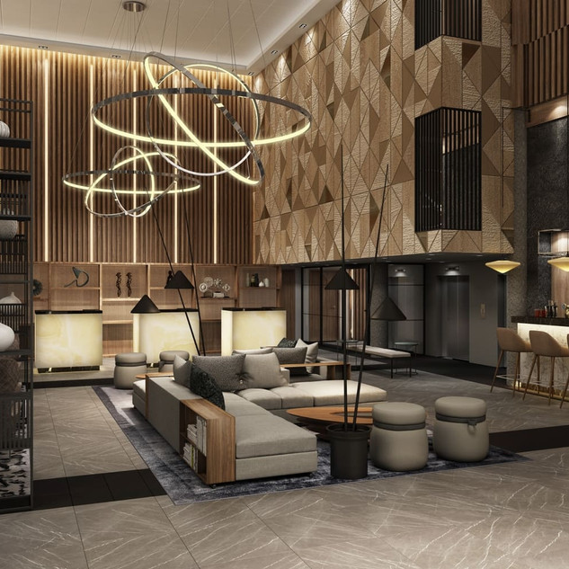 Marriott lobby.