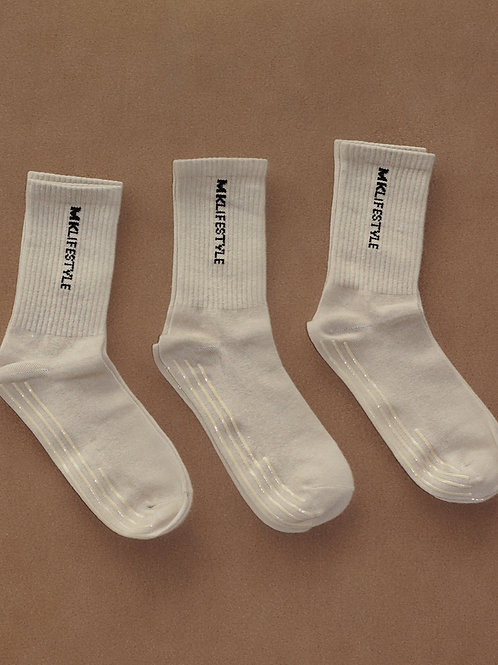 BEIGE ANTI-SLIP SOCKS 3-PACK